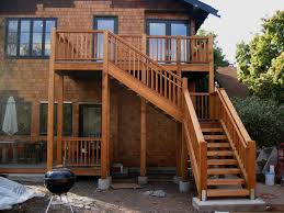 External Handrails Exterior Beautiful Deck With Stair Design For Outdoor Living Space