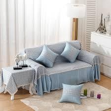 housse canapé blanc plaid é housse de canapé antidérapante blanc bleu haute qualité