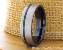 Mens Gunmetal Wedding Rings by Tungsten Ring Sapphire Diamond Tungsten Wedding Band Black