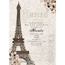 Eiffel Tower Invitations Printable Digi Designs Personalized Digital Party Invitations