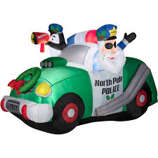 Blow Up Christmas Decorations At Walmart by 4 U0027 North Pole Police Airblown Inflatable Christmas Prop Walmart Com