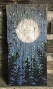 painted wood artwork one of a painting on weathered antique barn board wine