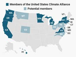 United States Climate Map by Us States That Vowed To Uphold The Us Paris Agreement Goals