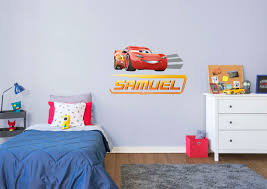 cars 3 lightning personalized name wall decal shop fathead for cars 3 lightning personalized name fathead wall decal