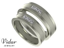 matching wedding band sets princess cut diamond matching wedding bands matte finish vidar
