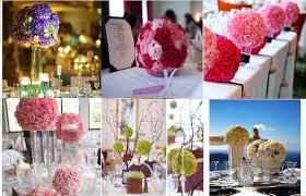 centre de table mariage pas cher décoration de table les boules de fleurs mariage you