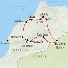 Map Of Spain And Morocco by Morocco Tours Holidays To Morocco On The Go Tours