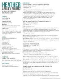 Wireless Project Manager Resume Marketing Manager Resume Workbloom