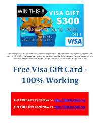free prepaid cards free visa gift card 100 working