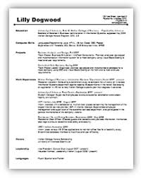 Undergraduate Resume Sample For Internship by Resumes And Letters Career Services Walton College
