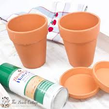 how to paint terra cotta pots with spray paint