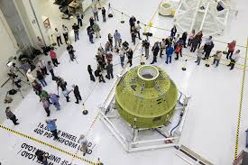 orion crew module processing begins for first mission atop sls