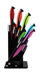 coloured kitchen knives set kitchen knife block set with colour coding 5 coloured
