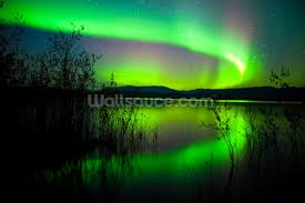 landscape wallpaper wall murals wallsauce usa northern lights mirror wall mural