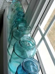 mason blue glass canning jar diy