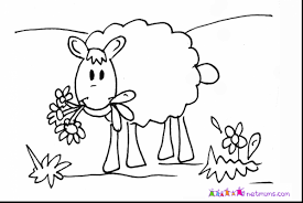 great printable sheep coloring pages with sheep coloring page