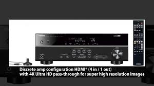 home theater blu ray receiver yamaha rx v377 5 1 channel a v home theater receiver youtube