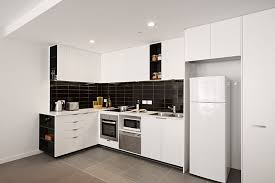 Kitchen  Fascinating Apartment Kitchen Design Ideas With Cream - Kitchen cabinet apartment