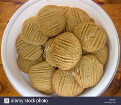 baking container storage peanut butter cookies baking in oven stock photo 310020006 alamy