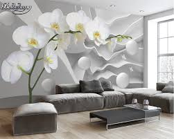 home decoration wallpapers beibehang custom large space butterfly orchid ball photo wallpaper