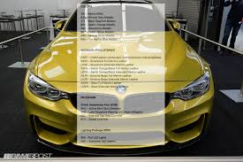 bmw m3 paint codes 2014 m3 m4 dealer launch car order guide reveals colors options