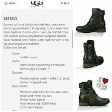 ugg womens finney boots 41 ugg boots sale authentic nib ugg finney leather boot
