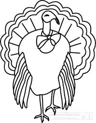 thanksgiving clipart clipart black white turkey outline