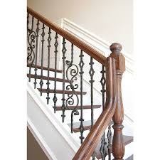 lowes banisters and railings shop house of forgings powder coated wrought iron double diamond