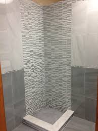 Master Bathroom Shower Tile Ideas by Cool Bathroom Tile Idea With Light 12 X 24 Tiles On Top Of