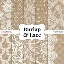 rustic wedding scrapbook burlap wedding paper burlap lace digital paper rustic wedding