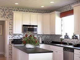 White Kitchen Cabinets Black Countertops by Kitchen Style White Cabinets Black Countertop Polkadots Kitchen