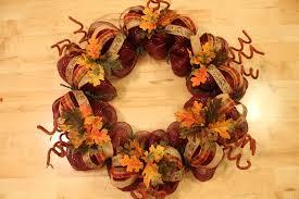 Halloween Picks For Wreaths by Diy Mesh Thanksgiving Wreath