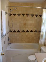 tile tub with shower tile tub surround use black and pink in