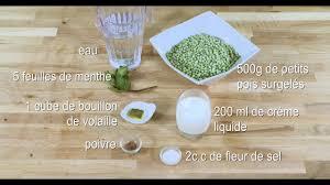 cuisine au blender velouté de petits pois à la menthe recette au blender magimix