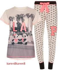 pete and polly panda la pj pajama pyjama loungewear primark on sale
