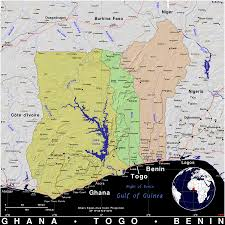 Map Of Ghana Ghana Togo And Benin Public Domain Maps By Pat The Free Open