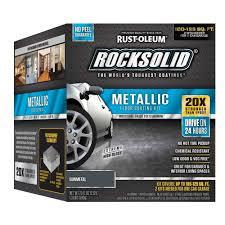 amazon com rust oleum rocksolid gunmetal metallic garage floor