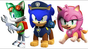 sonic boom paw patrol sonic boom coloring pages for kids youtube