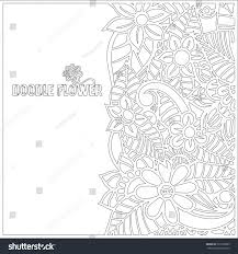 pattern coloring book leaves ethnic floral stock vector 525365899