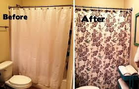 Shower Curtain For Small Bathroom Small Bathroom Makeovers Shower Curtains Optimizing Home Decor
