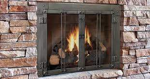 fireplace screen with glass doors fireplace specialties shreveport bossier city gas logs