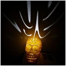 3d printed halloween skull lamps by mingshiuan pinshape