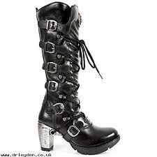 buy womens biker boots women s boots fnqt8t7 new rock black leather women ladies hi heel