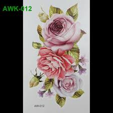 wholesale scar diy temporary tatoo flowers rose tattoo 3d dazzle