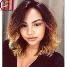 pictures of black ombre body wave curls bob hairstyles 7a glueless ombre blonde bob full lace wigs short wavy bleached