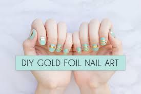 gold foil nail art flash tattoo nail art youtube
