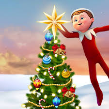 decorate the christmas tree with elf on the shelf christmas game