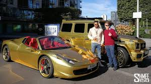 Gold Cars You Won U0027t Miss New Brabus G 700 And Ferrari 458