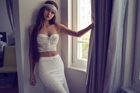 Mona Corset Helena Skirt Handwork White Lace Wedding Dress