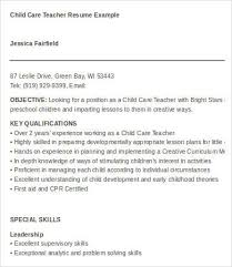 Child Care Worker Resume Template Daycare Resume Examples Sample Resume For Daycare Worker Resume